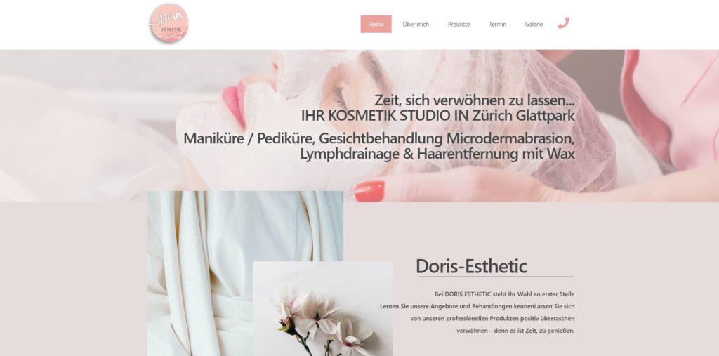 Doris Esthetic webauftritt