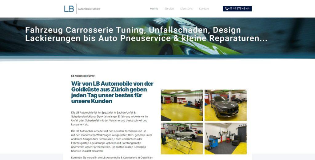 LB-Automobile webauftritt