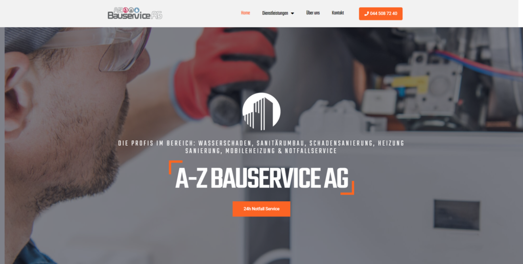 a-z bauservice website