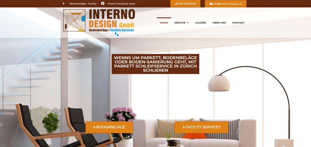 interno design website referenz