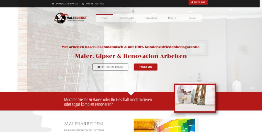 maler dienst website referenz