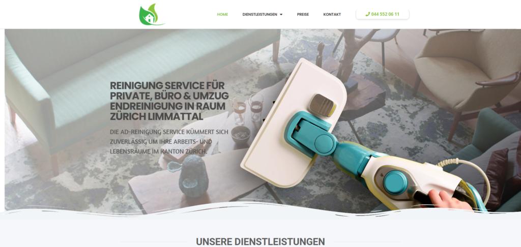 ad-reinigung website referenz
